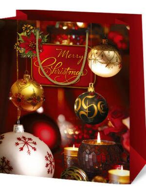 Karácsonyi ajándéktasak, közepes (10x18x22,5 cm)