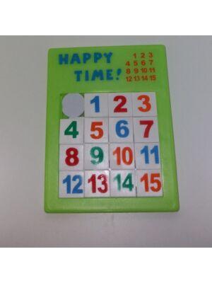Szám kirakó [tologatós puzzle 3 féle színben]