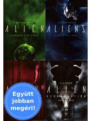 A 4 Alien film könyv változata egy csomagban