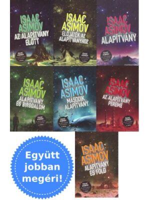 Asimov Alapítvány sorozatának 7 könyve csomagban