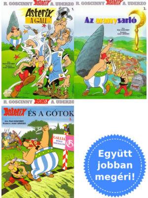 3 Asterix képregény csomagban [René Goscinny, A. Uderzo]