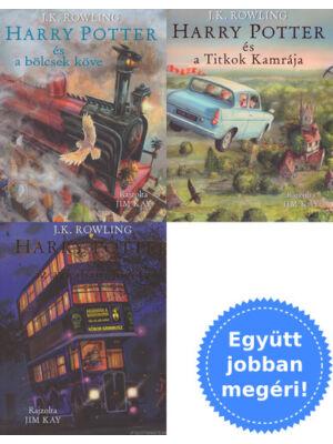 A Harry Potter sorozat első 3 illusztrált könyve