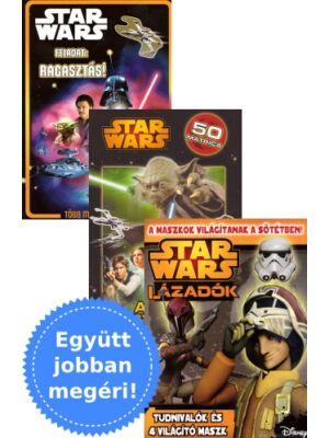3 Star Wars foglalkoztató könyv csomagban