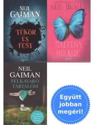 3 Neil Gaiman novelláskötet csomagban