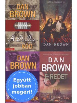 4 Dan Brown könyv Robert Langdonnal csomagban