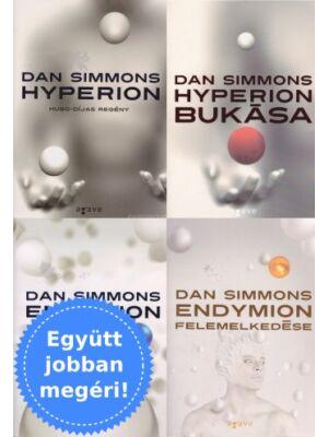 4 Dan Simmons könyv (Hyperion, Endymion) csomagban