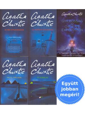 5 Poirot könyv csomagban Agatha Christie-től