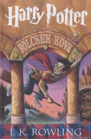 A Harry Potter és a Bölcsek kövének eredeti borítója a keménytáblás kiadásról