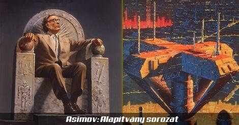 Asimov - Alapítvány (a szerző és egy régi kiadás borítója)