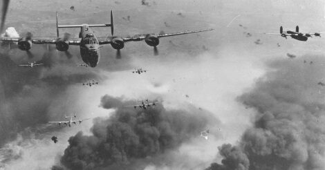 II. világháború - amerikai bombázók bevetésen