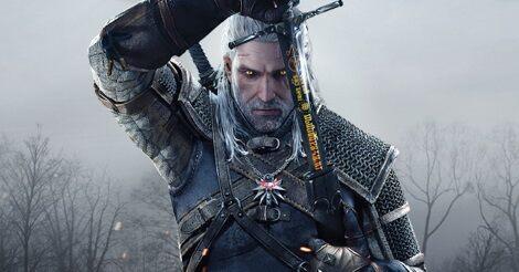 Ríviai Geralt, ahogy kivonja a kardját