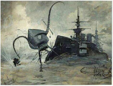 Világok háborúja illusztráció
