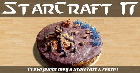 Torta a 17 éves StarCraft tiszteletére