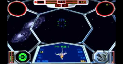 Screenshot a Tie Fighter c. Star Wars játékból