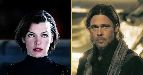 Milla Jovovich és Brad Pitt (a Resident Evil és a World War Z főszereplői)