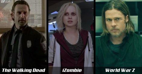 3 díjnyertes zombi film: The Walking Dead, iZombie, World War Z
