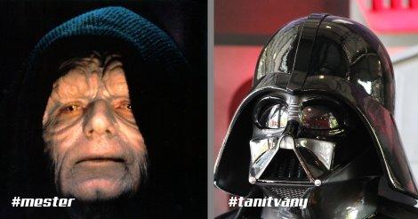 Darth Sidious és Darth Vader - Sith mester és tanítvány