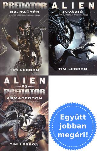 42885cc4f9 A teljes Harag Háborúja trilógia [3 Alien / Predator könyv]